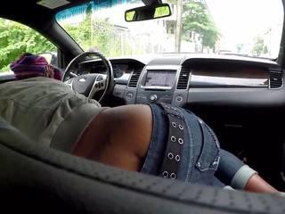 Schwarz Hooker Auto Blowjob
