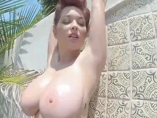 short hair big boobs solo